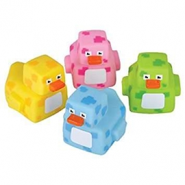 "2"" Pixelated Rubber Duckies"