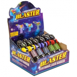 "7"" Light Blaster Gun 6 pc Display"